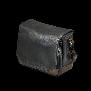 [WOTANCRAFT] Ryker Full Leather Camera Bag Black/Coffee Brown - M